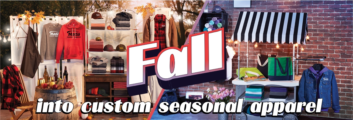 fall into custom seasonal apparel