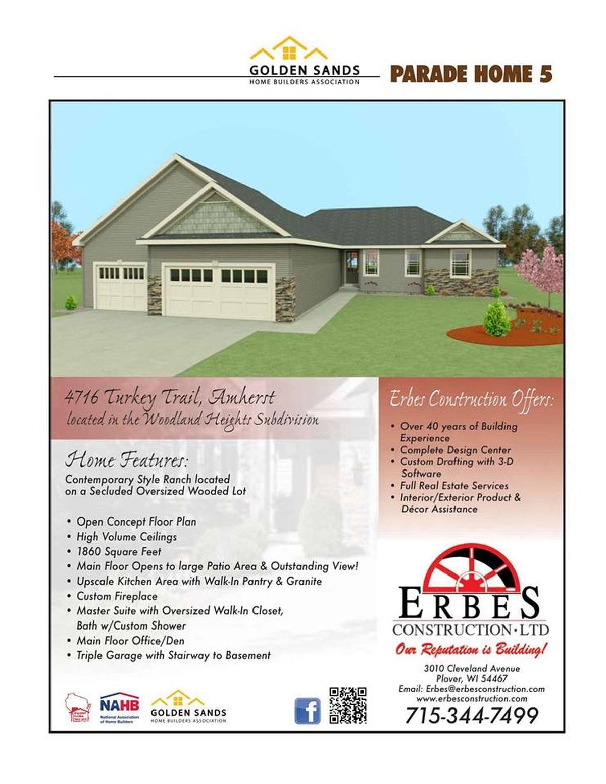Visit us at the Golden Sands Parade of Homes