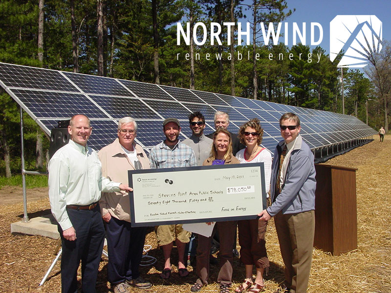 solar panel financing for libraries in Stevens Point, WI
