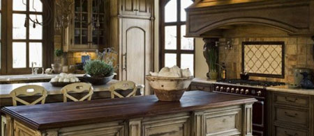old world style kitchen
